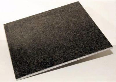 Finition face vue poli Negro Angola 40 X 40 X 0,01 cm