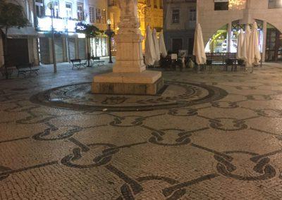Pavé 4x5 calcaire de portugal blanc et noir