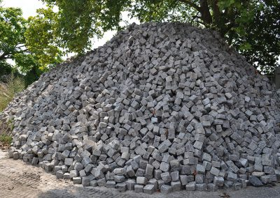Pavés granit ancien mélange 14x13x12
